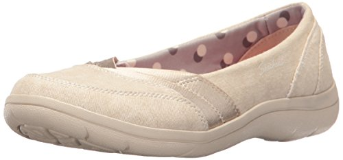 Skechers Donna Lite Step Flat, Naturale