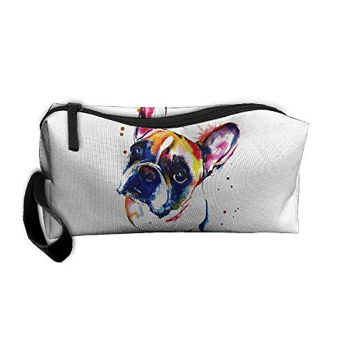 Jessent Coin Pouch Funny French Bulldog Pen Holder Clutch Wristlet Wallets Purse Portable Storage Case Cosmetic Bags Zipper (Cleansers Jessica)