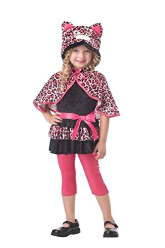 POPLife Cutesy Kitty Leopard Pinkalicious Toddler Costume (Girls And Toddler Cutesy Clown Costume)