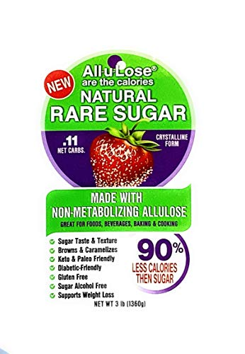 All-u-Lose Natural Rare Sugar Sweetener, Crystalline Allulose -- 2, 3 lb. Stand-up Pouches