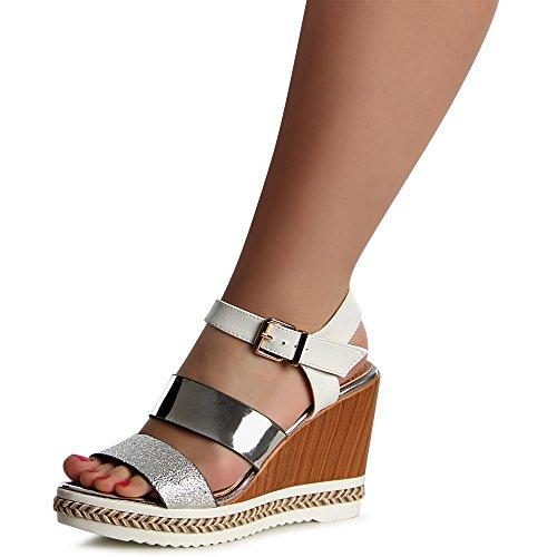 topschuhe24 - Sandalias de vestir para mujer Weiß