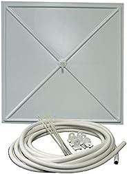 InBrella 100 White Polystyrene Plastic Ceiling Tile Leak Diverter, 2'