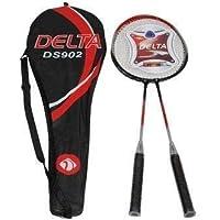 Delta Ds 902 Çantalı Çiftli Badminton Seti , Unisex, Kırmızı, Tek Beden