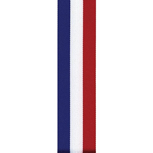 Berwick Offray LLC Offray Tri-Stripe Grosgrain Patriotic Ribbon-5/8 W X 100 Yards-Red/White/Blue ()