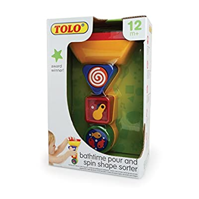 Tolo Bathtime Pour and Spin Shape Sorter Toy: Toys & Games
