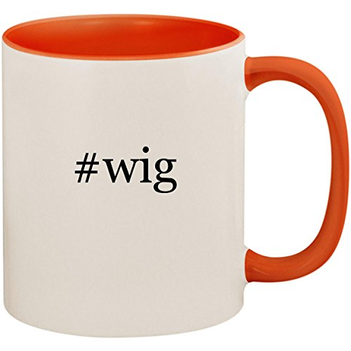 Price comparison product image #wig - 11oz Ceramic Colored Inside and Handle Coffee Mug Cup, Orange