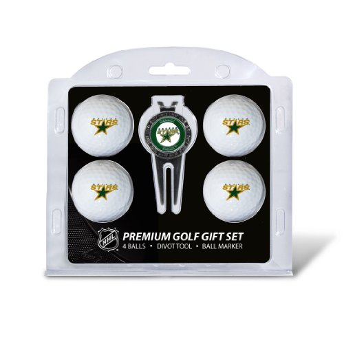 - Team Golf NHL Dallas Stars Regulation Size Golf Balls (4 Count) & Divot Tool with Removable Double-Sided Magnetic Marker