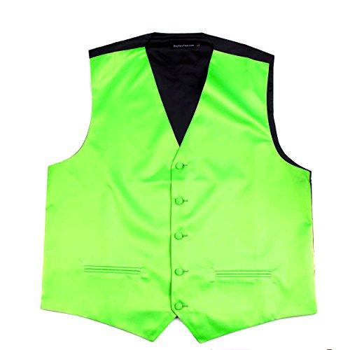 Tuxedo Vest Lime Satin - 2