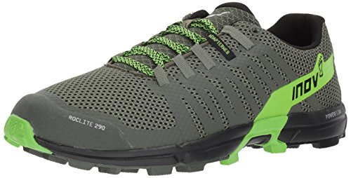 Inov-8 Men's Roclite 290 (M) Trail Running Shoe, Green/Black, 8.5 C/D US