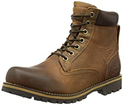 Timberland Men's Earthkeepers Rugged Boot, Red Brown, 8 M US