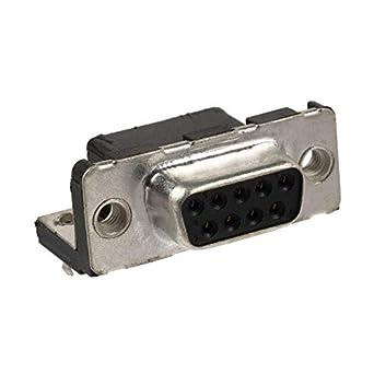 D Sub Connector 9 Contacts Solder D Sub Receptacle Metal Body DE