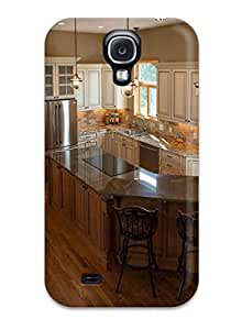 Durable Protector Case Cover With Ivory Kitchen With Maple Island Hot Design For Galaxy S4
