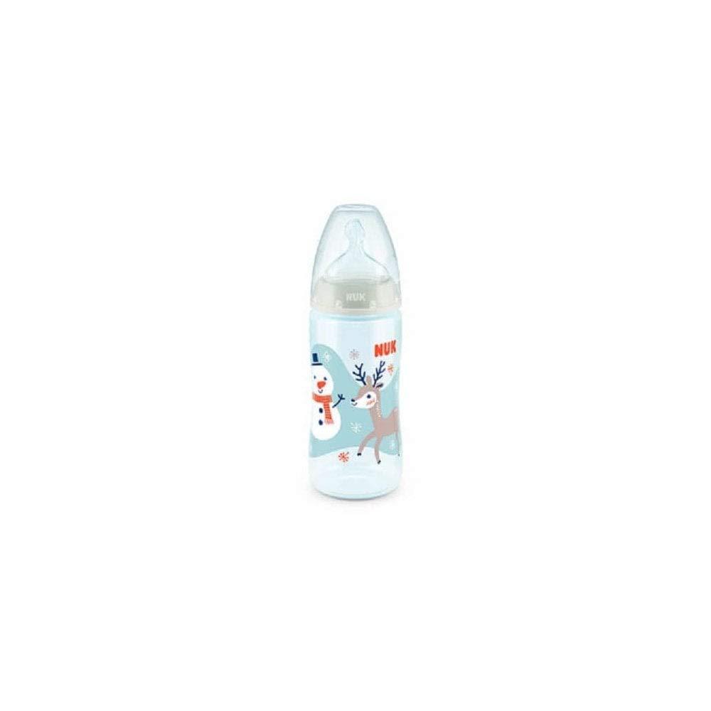 Snow NUK First Choice+ Babyflasche kiefergerechter Silikon-Trinksauger 0-6 Monate M 300 ml BPA-frei