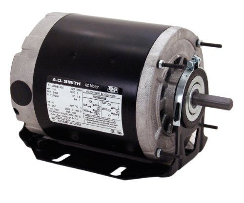 A.O. Smith BF2034 1/3 HP, 1725 RPM, 115/230 Volts, 48/56 Frame, Open Enclosure, Ball Bearing Capacitor Start Motor