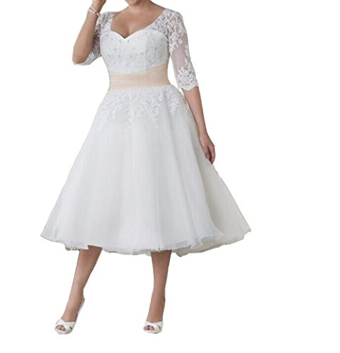 FashionStreets-Formal-Women-Short-Plus-Size-Lace-Wedding-Dresses-for-Bride
