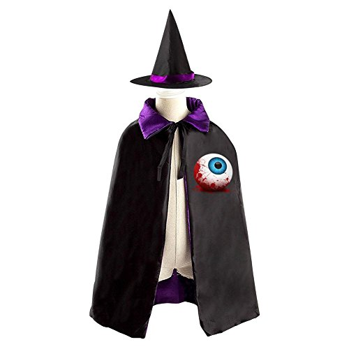 Halloween Blood Eyeball Decoration Props Witch Wizard Cloak Double-sided Cosplay Reversible Costumes Hat Caps