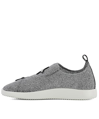 ZANOTTI Slip Sneakers On RS80038001 GIUSEPPE Altri Argento Donna DESIGN Materiali pdABWqw