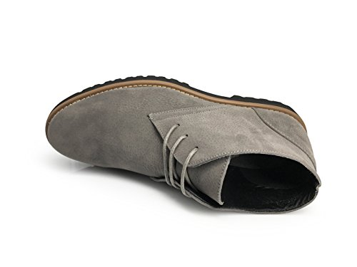 Men Classic Suede Chukka Desert Storm Lace Up Oxfords Boots Gray GLOrYvu9c
