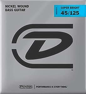 Dunlop DBSBN45125 Super Bright Nickel Plated Steel Bass 5 String Set, .45-.125