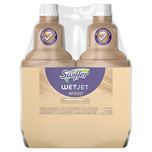 Swiffer Wetjet Wood Floor Cleaner Solution Refill, 42.2 Oz - 2 Pack