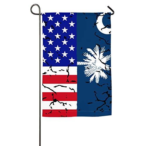 (NPZBHoney30X45 USA South Carolina Flag Classic Garden Flag Decorative Flags for Outdoors - 12