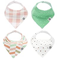 "The Good Baby Bandana Drool Bibs – 4 Pack Baby Bibs for Girls - ""Lincoln Set"""