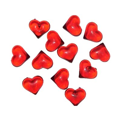 CYS Vase Filler Heart Shape Acrylic Ice, Red, 1 lb bag (4 bags) Small Red Hearts
