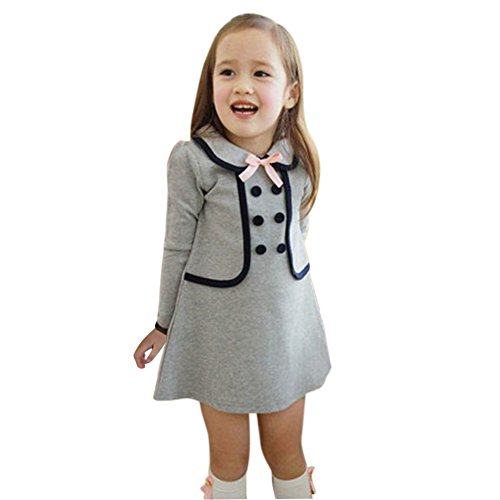 - Shouhengda Newborn Kid Girls Tops Pullover Long Sleeve Dress Preppy Style Outwear Coat 2-7Years