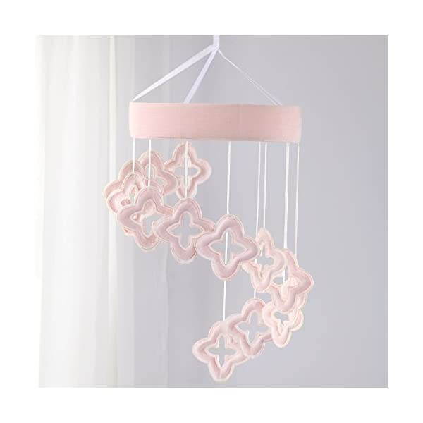 NoJo Chantilly Ceiling Mobile, Pink, White