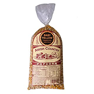 Amish Country Popcorn | 1 lb Bag | Baby Yellow Popcorn Kernels | Old Fashioned with Recipe Guide (Baby Yellow - 1 lb Bag)
