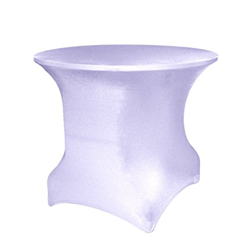 Ultimate Textile Round Spandex Stretch Tablecloth - Fitted Covers for 4 ft. Round Tables 30'' High, Lilac Light Purple by Ultimate Textile
