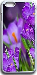 Dseason Iphone I6plus case, Slim Hard Unique Design Purple tulip