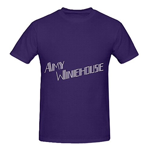 Amy Winehouse Back To Black Deluxe Edition Tour Hits Men Crew Neck Design T Shirts Purple ()