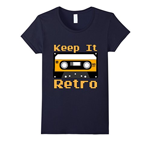Womens Keep It Retro Cassette tee from the 1970s and 1980s Large (70s 80s Clothes)