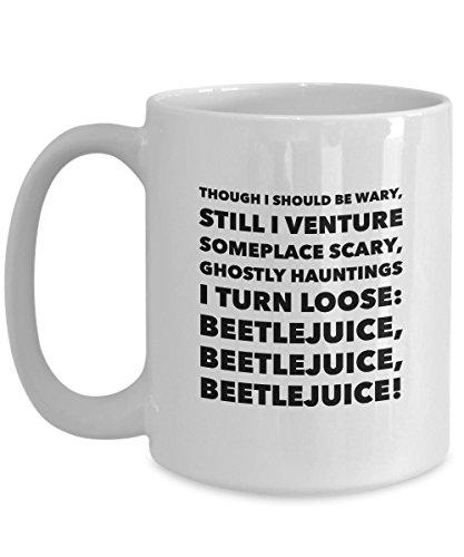Halloween coffee Mug BeetleJuice Ceramic Cup (Mug Coffee Beetlejuice)