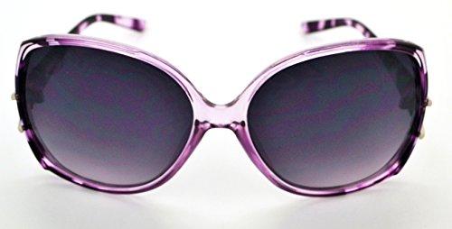 classique soleil Hot qualité Lunettes Vox Smoke haute W femme Frame gratuit Mode Lens Purple microfibre tendance pour de étui fwq05pxv0
