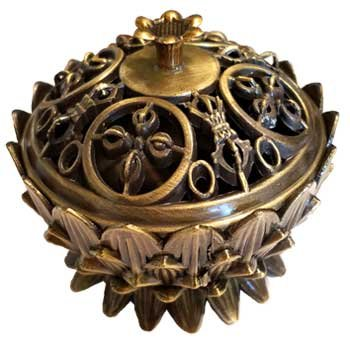 CircuitOffice Lotus Incense Burner, Antique Bronze Design, Great For Cones Or Granular Incense by CircuitOffice