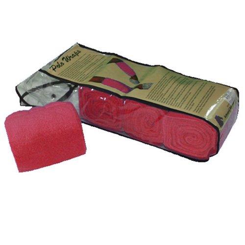 Intrepid International Full Pony Polo Wrap Set, Red