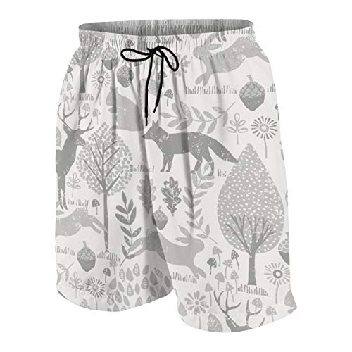 Cozystore Deer Fabric Youth Boy's 3D Printed Swim Trunks Board Shorts