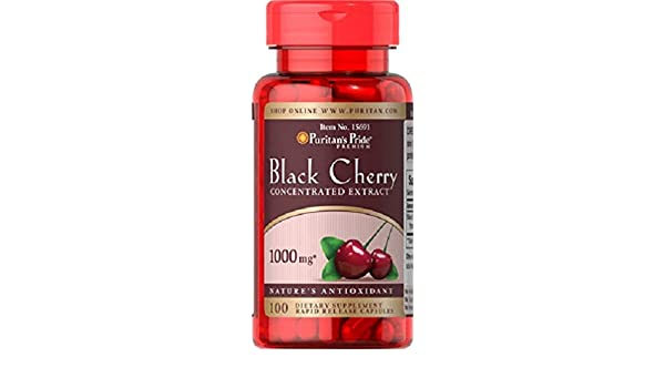 Cereza Negra Black Cherry 1000 mg. 100 caps, ANTIINFLAMATORIO, BLACK CHERRY: Amazon.es: Salud y cuidado personal