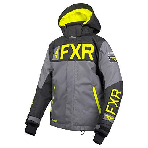 FXR Youth Helium Jacket (Charcoal/Black/Hi Vis, Size 14)