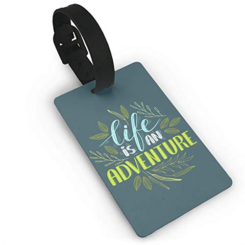 Luggage Tag Life is an Adventure Travel Baggage ID Suitcase Labels Accessories