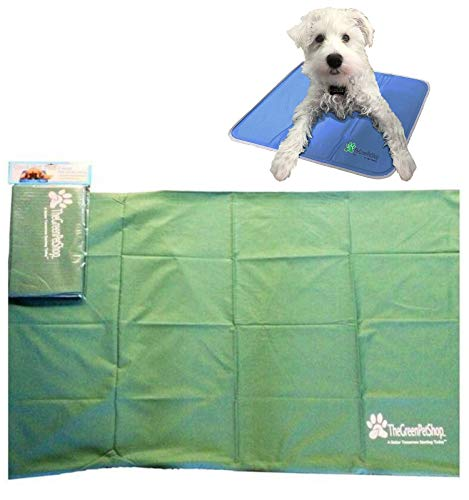 TheGreenPetShop Protective Cover for Cooling Pet Mat/Pad, Medium - Helps to Protect Self Cooling Dog Pad from Damage - Durable, Easy-Care and Machine Washable