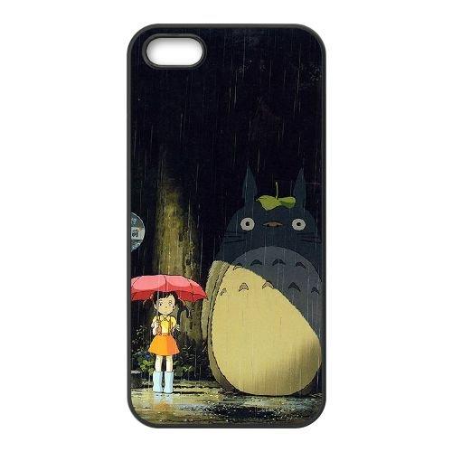 My Neighbor Totoro 005 coque iPhone 4 4S Housse téléphone Noir de couverture de cas coque EOKXLKNBC22918