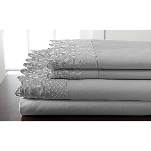 Elite Home Products, Inc. Hotel Lace Microfiber Sheet Set Spa 3 Piece Twin by Elite Home Products, Inc. (Image #4)