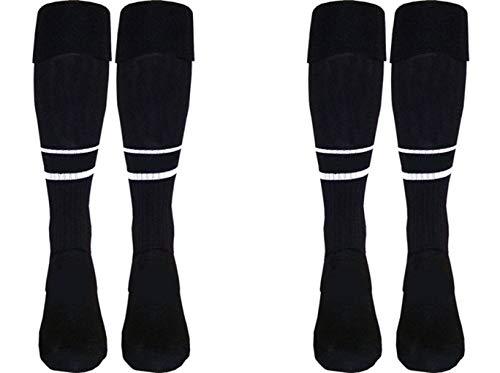 (Arniba 2 Pair 2-Stripe Soccer Referee Socks)