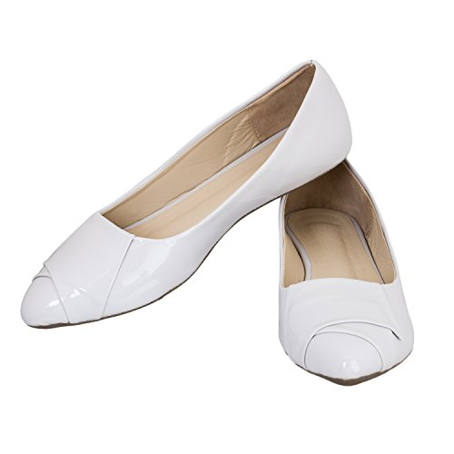 DEEANNE LONDON Women's Comfortable Formal Bellies… (Off-White, Numeric_3)