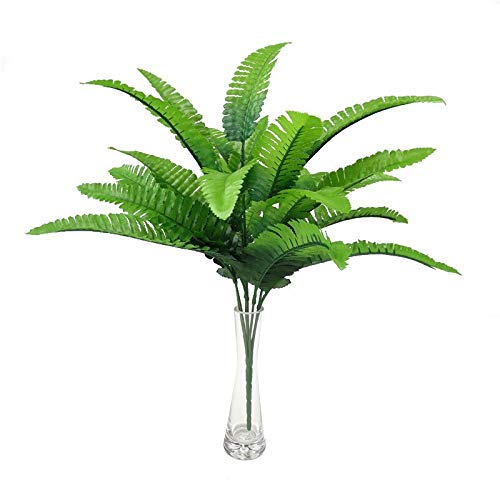 Artificial Plants - 7 Ks Plant Plastic Fake Foliage Artificial Persian Grass Leaves Home Garden Decoration Ornament - Mini Table Tongue Topiary Outside Cleaner Round Like Boxwood Bonsai
