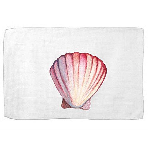 Amazon com: Watercolor Shell Kitchen Towel Ocean Dish Towel Tea