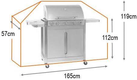 HBCOLLECTION Deluxe Polyestere Copri Telo di Copertura per Grill Barbecue L 165cm Marrone